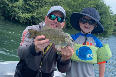 Delta bass are great for teaching kids how to fly fish