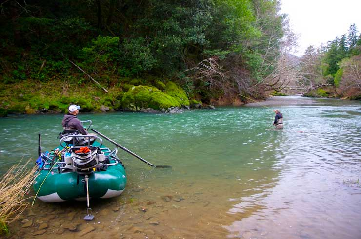 Rafts are a great way to fish some of southern Oregon's coastal rivers