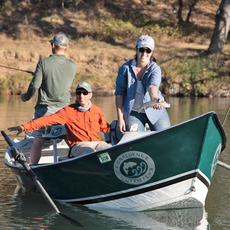 Drift Boat trips are great for beginner fly fishers