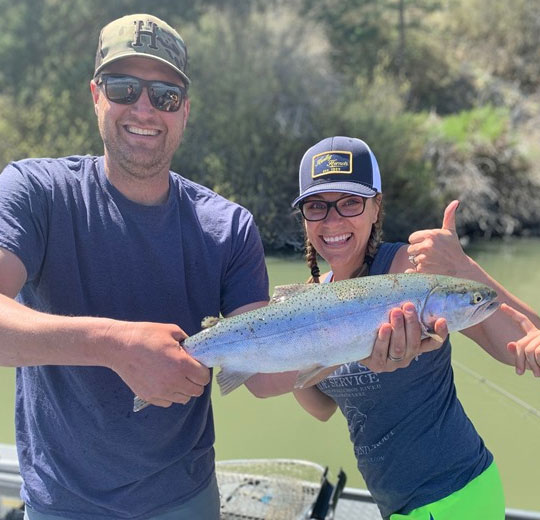 The Klamath Basin is home to huge rainbow trout.
