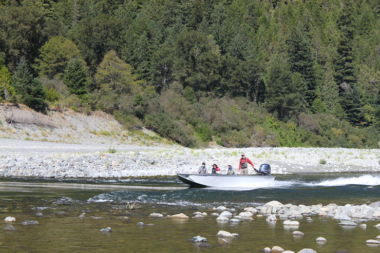 Jet Boats are the only way to go on the Lower Klamath River