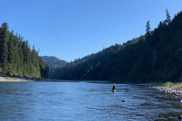 The Klamath is a big river with lots of great steelhead water