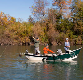 Drift Boat trips on the Lower Sac are highly productive for quality wild trout.