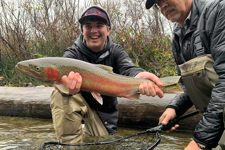 A colorful Trinity River steelhead