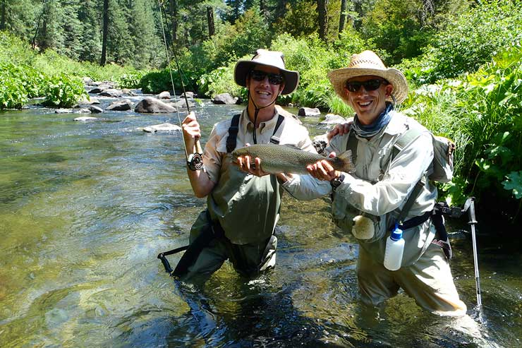 Guide Andrew Harris and guest with a nice McCloud rainbow